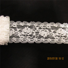 Free shipping 10yards/lot Width 3.6CM white and black color Super Elastic Lace Fabric diy clothes fabric accessories