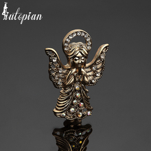 Iutopian Brand Vintage Retro Unique Lovely Angle Wings Brooches For Women Amazing Design #CJ057