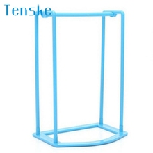 Tenske  colorful Plastic Hangers Creative Finishing Frame Hanger Companion Storage Rack *30 Drop