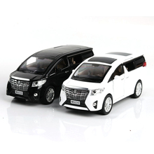 Kids toys 1:24 RC Alloy Car Model Toy Without Light & Sound Kid for Alphard Vellfi Diecast Car Toys Collection Boys Gift(China)