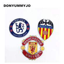 2pcs Metal Alloy Auto Cover Decal Team Football Club Logo Symbol Emblem Badge 3D Sticker for BMW Ford Volkswagen Car Styling