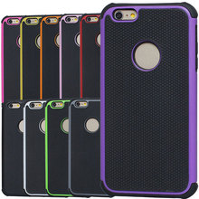 Heavy rugged high quality football skin pattern hybrid Silicone + PC Case for iPhone 6 Plus 5.5'' protector back Cover 11 colors
