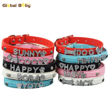 Global Baby Brand Rhinestone Customized Free Name Dog CollarDog Pet Personalized Collar
