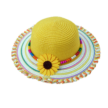 Spring New Baby Girl Hat Summer Beach Straw Girls Visors Cute Bohemia Girl Cap Sun Hat CM-001
