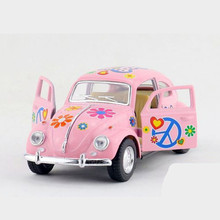 1:32 KINSMART VW Classic Beetle Car Model Toy, Alloy Classical Beetle With Painting, Pull Back Cars For Boys, Hot Toys, Juguetes(China)
