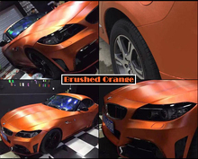 Metal Brushed Finishing Aluminum Vinyl Wrap Orange Car Wrapping Metallic Brushed Steel Wrap Film With Air Release 1.52*20M/Roll