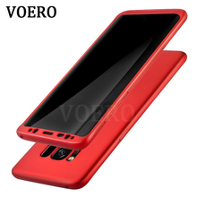 VOERO 360 Protected Full Phone Case For Samsung Galaxy S8 S8 Plus Cover Soft TPU Silicone Case For Samsung S8 Shockproof Shell(China)