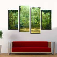 Fallout Wall Art 4pcs The Beautiful Tropical Rainforest Wall Painting Print On Canvas For Home Decor Ideas Paints Pictures Art