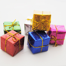 60pcs/lot 4cm 2016 Christmas Decoration For Home Tree Ornaments Decorative Present Gift Box Outdoor Tree Supplies Pedant Drops