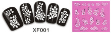 2 Sheet manufacturers 3D nail stickers nail jewelry nail wholesale XF001