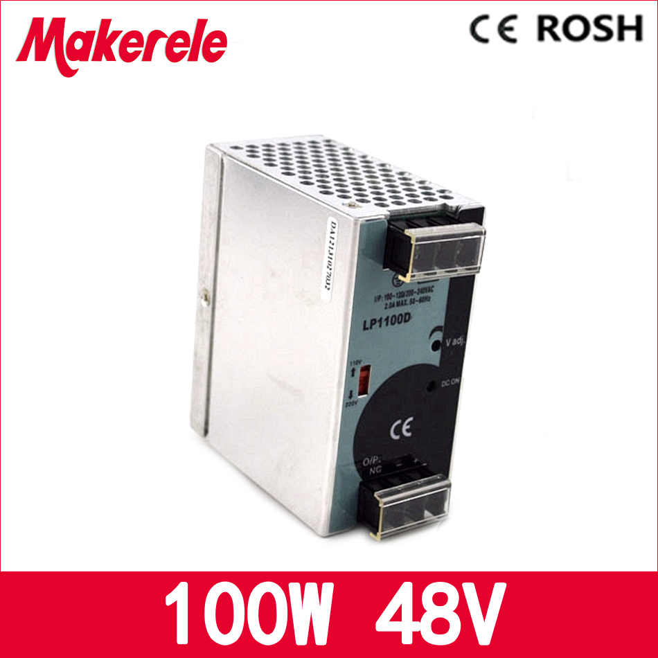 48v LP-100-48 2.1a 100W Din Rail Single Output ac-dc power supply for CCTV camera LED Strip light AC DC switching power supply<br>