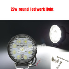 20 pcs flood and 20 pcs Spot 27W LED Work Light 12V IP67 Fog light Offroad ATV Tractor Train Bus Boat 4x4 ATV UTV Work Light(China)
