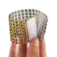 Ourwarm 10Pcs Diamond Napkin Rings for Wedding Napkin Holders Rhinestone Chair Sashes Banquet Dinner Christmas Table Decoration(China)
