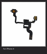 For Iphone 4 Original Power Button Flex Cable Ribbon Light Sensor Power Switch On / Off Replacement for Ihone 4 4G(China)