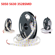 5M Led Strip Light DC12V 5630 5050 3528SMD 300Leds RGB Strip Flexure Lamp White Warm White RGB Red Green Blue For Home Decor