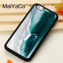 Big Surfing Waves Printed Soft TPU Skin Cell Phone Cases For iPhone 6 6S Plus 7 7 Plus 5 5S 5C SE 4 4S Back Cover Shell