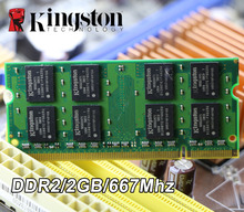 Original Kingston 2GB PC2-5300S DDR2 667 667Mhz 200pin DDR 2 Laptop Memory 2G pc2 5300 667 Notebook  for intel for amd