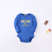 Baby piecemeal clothing baby winter clothing cotton conjoined jeans autumn winter embroidery Carter wind spring climbing clothes
