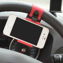 Car Phone Holder Car Steering Wheel Holder Bike Clip Mount Mobile Phone Stand For iPhone/Samsung/Xiaomi Car bracket
