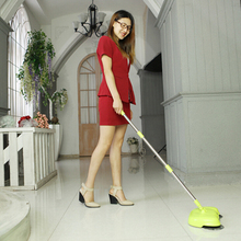 2016 green  New Home Cleaning Tools Handheld Sweeper Broom Mops 360 Degree Rotatable Cleaner for home Hard Floors Dust Cleaner