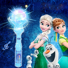 A Toy A Dream Kids Elsa LED Magic Wand Music Singing Let It Go Glow Toys Led Light Sticks Christmas Toys(China)
