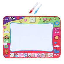 1 Pcs Painting Mat 31.4' Water Drawing Toy Painting Writing Mat Board 2 Magic Pens Doodle Mat Kids Children Educational Toys