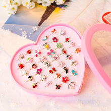 10pcs/lot Love Kids Cute Sweet Rings Design Flower Animal Fashion Jewelry Accessories Girl Child Gifts Finger Rings FS114