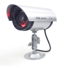 Waterproof CCTV Outdoor Indoor Office Household Surveillance False Fake Dummy Security Camera With LED Red LED Bullet Cameras(China)