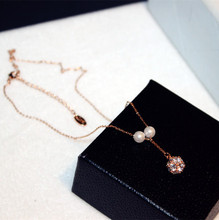 Pretty Elegant charming Luxury sell hot cakes high quality simulated pearl Zircon Women necklace gifts kolye collier jewelry(China)