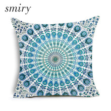 Paisley Bohemia Style Geometric Printing Cushion Covers Ethnic Linen Throw Pillow Case Sofa Car Seat Home Decorative Funda Cojin(China)