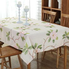 Freshing Flowers Blossoming Table Cloth Rectangular Spring Decor Tablecloth High Quality Wedding Home Table Cover tafelkleed(China)