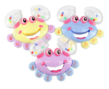 3Pcs/Lot Baby Rattle&Mobiles Plastic Crab Toy Jingle Baby Kid Musical Educational Shaking Rattle Handbell High Quality