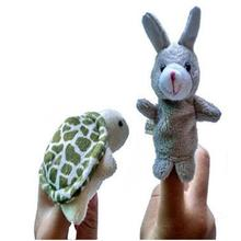 New 2pcs Animal Finger Puppet Plush Child Baby Early Education Toys Gift Cute Cartoon Hand Puppet Bebek Oyuncak Lowest Price #JD