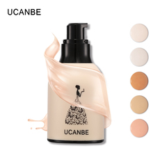 Professional Brand Make Up UCANBE Liquid Foundation Makeup Face Base Brighten Cheek Concealer Pores Shrink Moisturizer Natural(China)