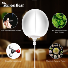 2 in 1 Portable Mini USB Anion Air Purifier Freshener LED Night Light Mood Light Desktop Air Cleaner Remove Cigarette Smoke Odor