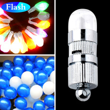 Include Battery 48 pieces/lot Batteris Operated Led Balloons Light for Paper Lantern light up for wedding party decoration(China)