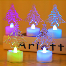 New light flash acrylic Christmas tree colorful Nightlight night market stall selling toys wholesale(China)