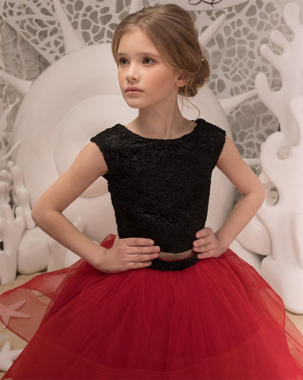 black-and-red-flower-girls-dresses-2018-ruffles (3)_conew1 -