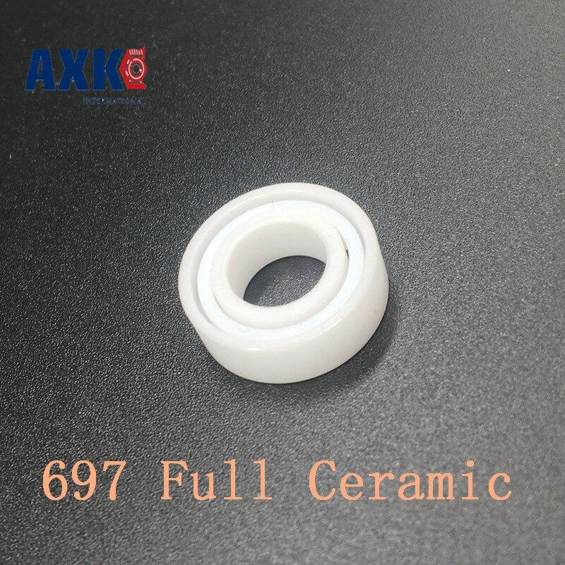 Axk 697 Full Ceramic Bearing ( 1 Pc ) 7*17*5 Mm Zro2 Material 697ce All Zirconia Ceramic 619/7 Ball Bearings<br>