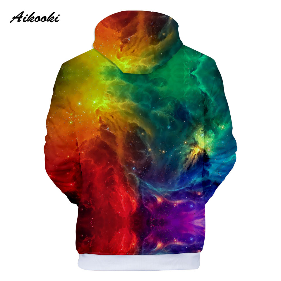 Galaxy Full Print Boys Girls Hoodie Pullover Shirt Space Star Planet Sweatshirt