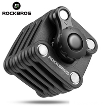 ROCKBROS Bike Bicycle Password Lock Mini Foldable Portable High Security & Drill Resistant Lock Key Theft Cube Cylinder 2 Style