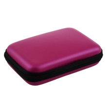 "Portable Hard Disk Drive Shockproof Zipper Cover Bag Case 2.5"" HDD Bag rose Red"