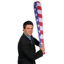 3 Pieces/set American Flag Baseball Bat Children Inflatable Hammer Stick Toy Party Supply Favor Gifts Stage Props Blow Up Toys