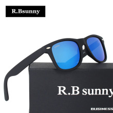 Best Quality Fashion Brands Polarizer UV400 Sunglasses Elastic paint frame Men Women R.Bsunny RC1603 HD Color film Sunglasses(China)