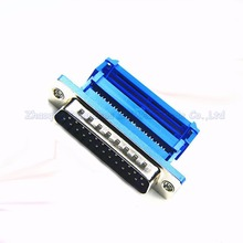 DB25 male socket connector jack Pressure wire type Crimp type Serial port 25pin RS232 connector(China)