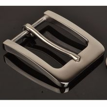 Stainless Steel Pin Buckle for Men Leather Belt Replacement Snap On 40mm Silver 045-608(China)