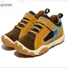 QGXSSHI 2016 Spring And Autumn Children Casual Shoes Girls Boys Brand Sport Shoes Kids Genuine Leather Sneakers Baby Shoes