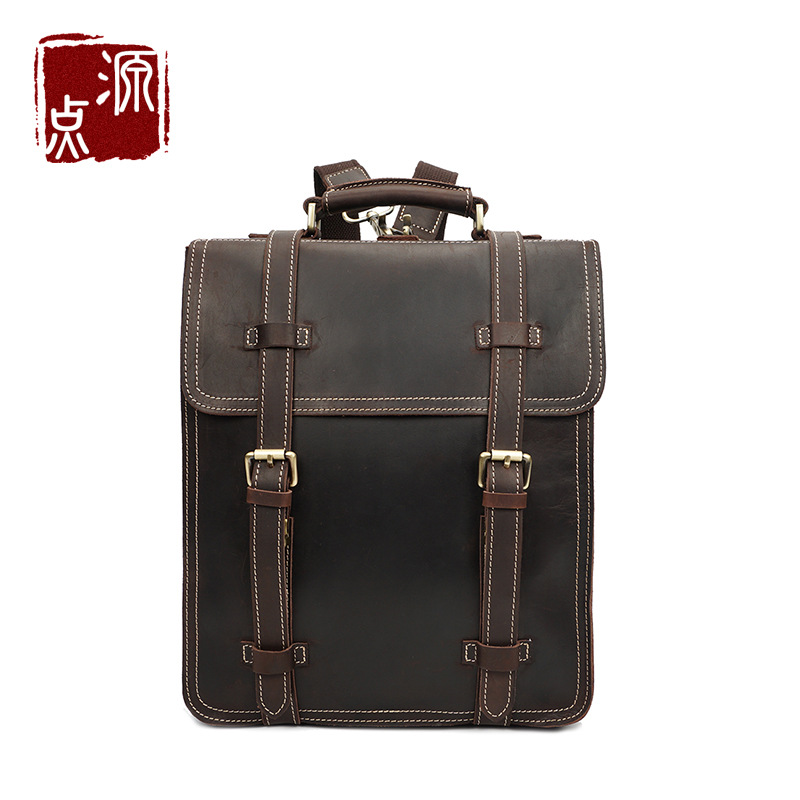 The source of new head layer cowhide bag men crazy horse leather backpack backpack men computer bag trade custom YD-8062<br><br>Aliexpress