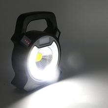 COB camping light USB rechargeable lantern Portable Floodlight Lantern Outdoor Emergency Spotlight Lamp for Camping Hiking(China)