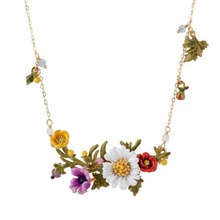 Style Flowers And Plants Series Enamel Glaze A Hundred Flowers Contend In Beauty Daisy Necklace Short Chain Support Mixed Batch